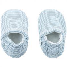 Chaussons bleu clair (3-6 mois)