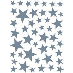Stickers Etoiles bleues