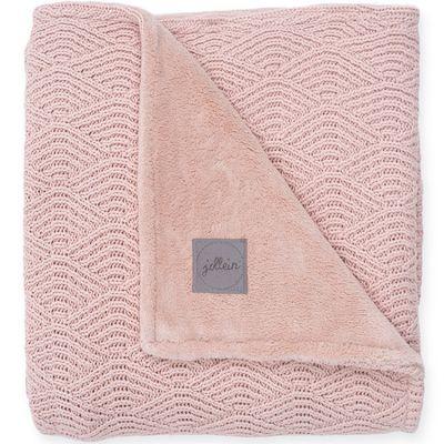 Couverture en tricot rose pâle (75 x 100 cm)  par Jollein
