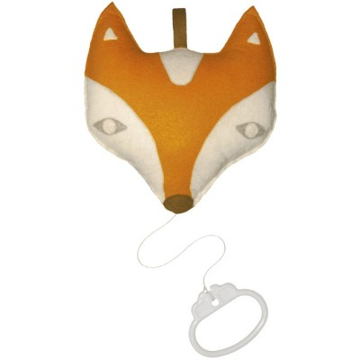 Coussin musical Renard orange (14 x 14 cm) Taftan
