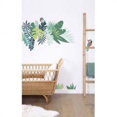 Grand sticker feuilles tropicales 1 (119 x 122 cm)