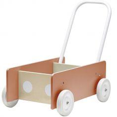 Chariot de marche Walker abricot
