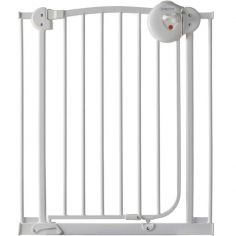 Barrière de sécurité auto close en métal blanc