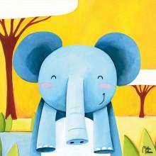 Tableau Dembé le petit éléphant by Melie Melane (40 x 40 cm)  par Lilipinso