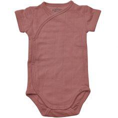 Body manches courtes rose foncé (4-6 mois : 63-68 cm)