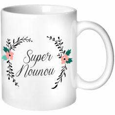 Mug Nounou Fleurs (personnalisable)