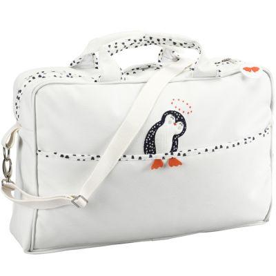 Sac à langer bandoulière Pingouin  par Nougatine