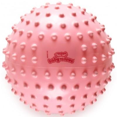 Balle tactile classique rose  par BabyToLove