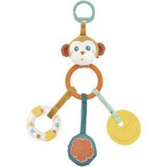 Hochet multi-activités à suspendre Sam le singe