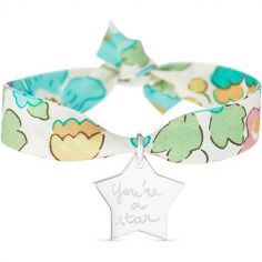 Bracelet maman Liberty avec étoile personnalisable (argent 925°)