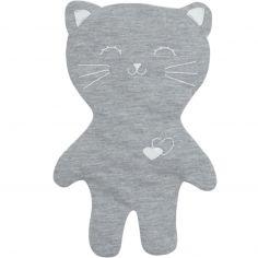 Doudou en coton bio Lilou le chat gris