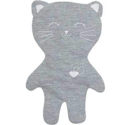 Doudou en coton bio Lilou le chat gris  par Kadolis