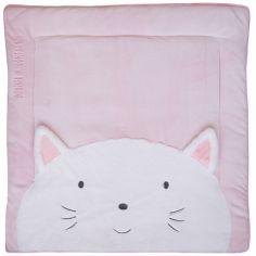 Tapis de jeu Tapidou chat rose (100 x 100 cm)