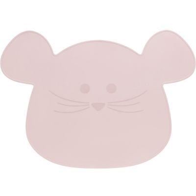 Set de table en silicone souris rose Little Chums  par Lässig