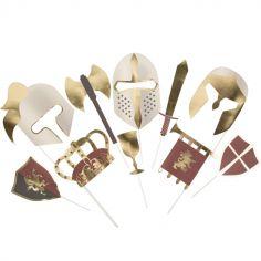 Accessoires pour photobooth Chevalier (10 pièces)