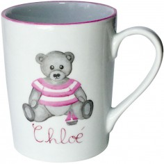Mug Ourson rose personnalisable