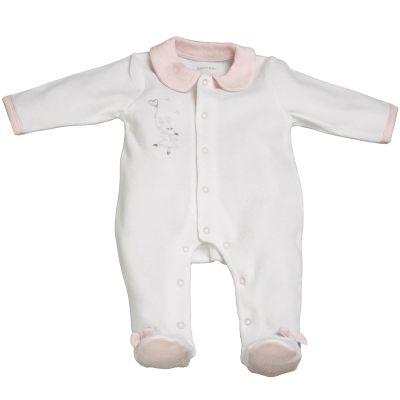 Pyjama chaud Lilibelle blanc (3 mois)  par Sauthon