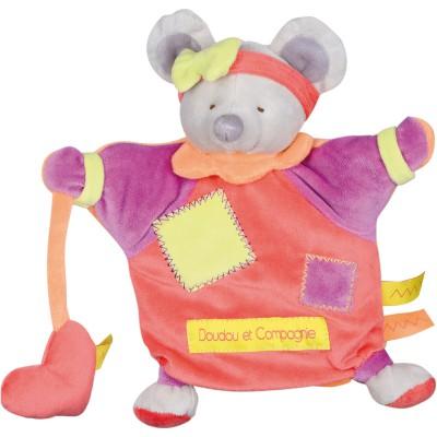 Doudou marionnette Zigag souris (22 cm) Doudou et Compagnie