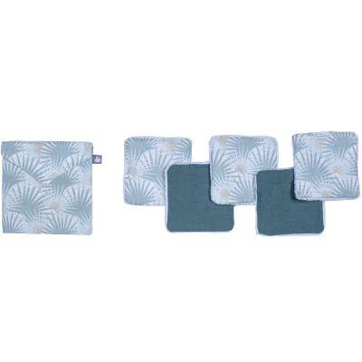 Lot de 5 lingettes lavables Palm Springs (10 x 10 cm)  par BB & Co