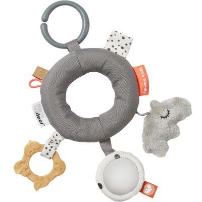 Hochet anneau d'activités gris  par Done by Deer