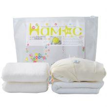 Kit couche en coton bio 5 pièces (Taille XS)  par Hamac Paris