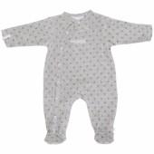 Pyjama chaud fille Poudre d'étoiles gris (1 mois : 56 cm) - Noukie's