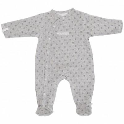 pyjama chaud fille poudre d 39 toiles gris 1 mois 56 cm. Black Bedroom Furniture Sets. Home Design Ideas
