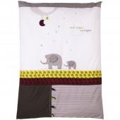 Housse de couette et taie d'oreiller India (100 x 135 cm) - Sauthon Baby Déco