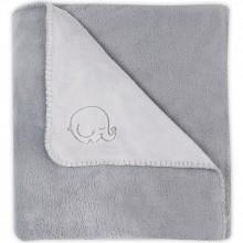 grande couverture polaire comfy fleece l phant gris 100 x 150 cm par jollein. Black Bedroom Furniture Sets. Home Design Ideas
