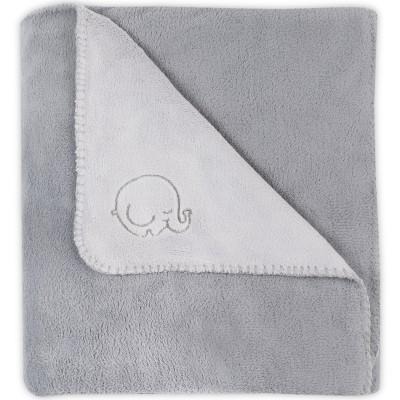 grande couverture polaire comfy fleece lphant gris 100 x. Black Bedroom Furniture Sets. Home Design Ideas