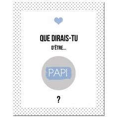 Carte à gratter Annonce de grossesse Version Encadrée Papi