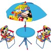 Ensemble table et chaises avec parasol Mickey (4 pièces) - Room Studio