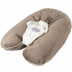 Coussin de maternité Multirelax soft boa taupe et écru