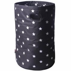 Panier à linge imperméable noir étoiles