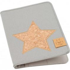 Protège carnet de santé Casual gris clair et étoile