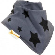 Bavoir bandana étoile Stars gris et noir