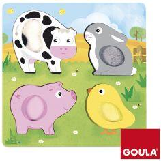 Puzzle  Les animaux de la ferme en tissu (4 pièces)
