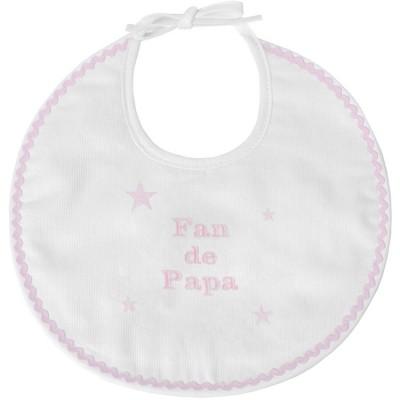 Bavoir de naissance fan de papa rose  par ANVIE