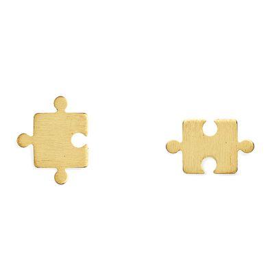 Boucles d'oreilles puzzle (vermeil doré)  par Coquine