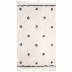 Tapis rectangulaire Trendy Black and White Woody (110 x 170 cm)