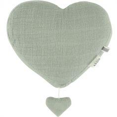 Coeur musical à suspendre Bliss vert olive