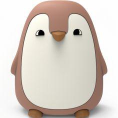 Veilleuse pingouin rose foncé (13 cm)