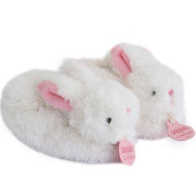 Coffret chaussons hochet Mon tout petit lapin rose (0-6 mois)  par Doudou et Compagnie