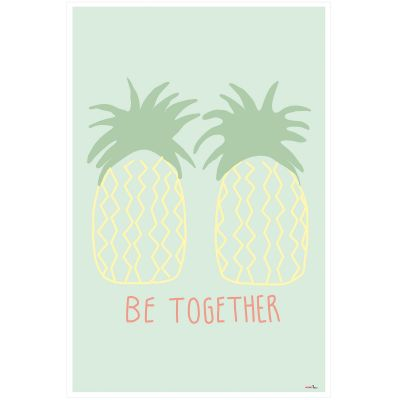 Affiche Ananas Be together (60 x 40 cm)  par Mimi'lou