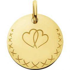 Médaille coeur Love Bird (or jaune 750°)