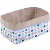 Panier de toilette Mixed stars mint (25 x 15 cm) - Little Dutch