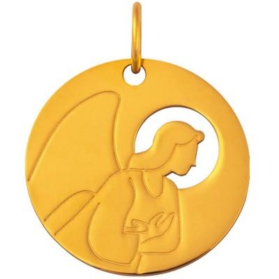 Médaille Esquisses Ange de l'Annonciation 18 mm (or jaune 750°) Maison La Couronne