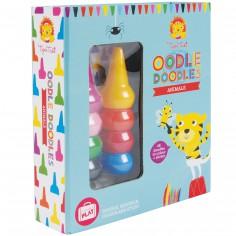 Set crayons, coloriages et autocollants Animaux