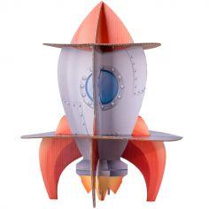 Présentoir à gâteaux en 3D fusée Astronaute