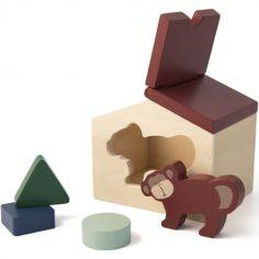Maison à formes en bois singe Mr. Monkey